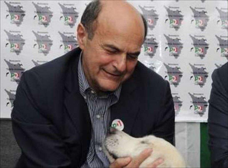 Pierluigi bersani con un cane labrador cani e politici for Gruppi politici italiani