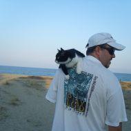 Io e Aisha al mare