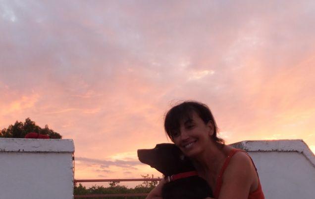 Io e Black al tramonto